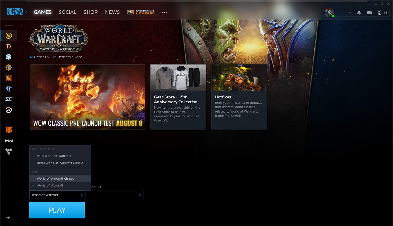 how to download and installl the WoW classic client? - Speed4game