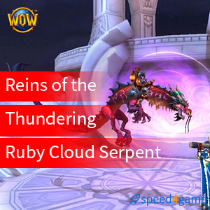 Thundering Ruby Cloud Serpent US World of Warcraft WoW Rare Mount Loot Card